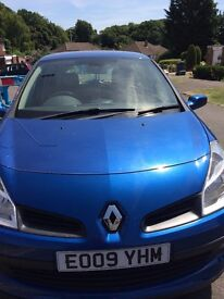 Metallic Blue Renault Clio Dynamique. In very good condition. Two lady owners only. Low mileage.