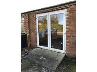 UPVC patio doors ( double, white)