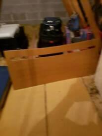 Double Bed Oak Headboard