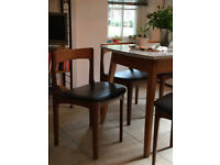 Set of 4 Mid-Century low back Dining Chairs