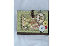 handmade Mini Album useing graphic 45 natures skechbook