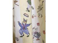 Laura Ashley Pair Curtains Nursery Vintage Bunny Jo Cowslip Multi White