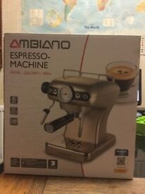 Espresso, Cappuccino Machine, hardly used and taking up space