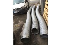 3 x 5 metre lengths of 300mm (12 inch) PVC tough flexible ducting