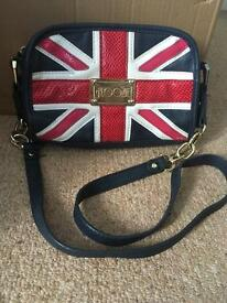 Floozie Gold chain Union Jack handbag