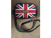 Floozie Gold chain Union Jack handbag