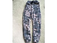 Camo full length trousers, for boys age 7