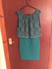 Green dress topshop size 10