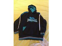 Lonsdale 9-10yr hoodied top, good condition from pet and smoke free home