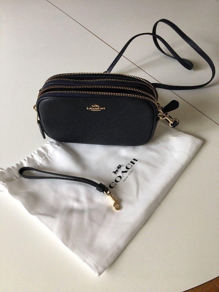 elegant and sturdy package attractive price modern and elegant in fashion Coach Navy Crossbody Clutch Bag | in Farnham, Surrey | Gumtree
