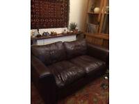 Sofa - brown leather