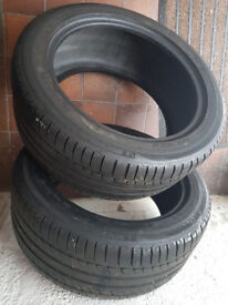 2x excellent Tyres michelin 245/45/17 (4mm!!!)