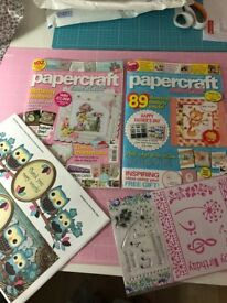 Papercraft Essentials Card Making Craft Magazines with Free Gifts