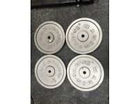 4x15kg gold's gym weight plates