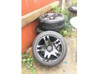 4x Mercedes ankaa 17 inch wheels with tyres