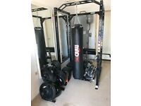 Gym equipment power rack Olympic bar weights bench chains etc