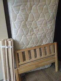 Wooden single bed - no mattress
