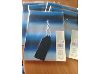 PACKS OF 8 HIGH QUALITY BLUE STRIPE FOIL GIFT WRAP. 2 SHEET PER PACK. PLUS FREE DELIVERY.