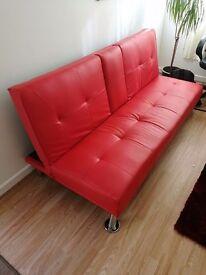 Red foldable sofa