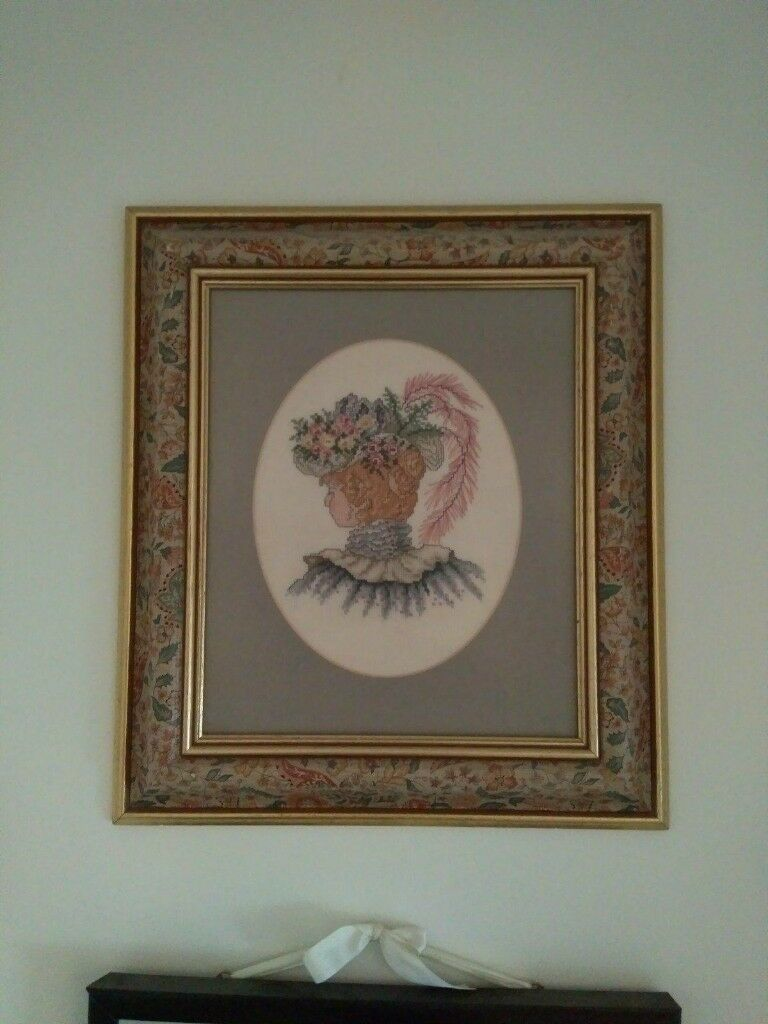 Beautiful Pretty Vintage Bohemic Shabby Chic Floral Golden Picture