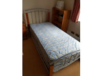 Single 3ft trundle (guest) bed with mattresses