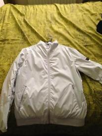 Jack and jones rain coat in white new never worn large