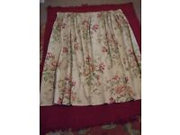 3. Floral Country Cottage Style Curtains Fully Lined (3 pairs)