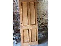 4 Panel oak veneer internal door.