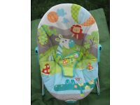 Colourful Baby Bouncer with Calming Vibrations for £7.00