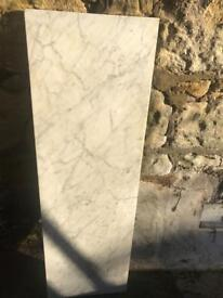 White marble hearth for fireplace. Vintage