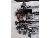 70+ Golf clubs with golf trolley and bag