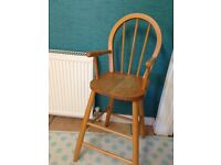 """Child's tall chair, 35"""" (90cm) tall, bargain for renovation"""