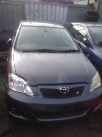 2005 TOYOTA COROLLA T SPORT 1.8 VVTLi 190 BHP BREAKING FOR PARTS