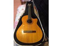 Takamini EG124C Semi Acoustic Classical Guitar