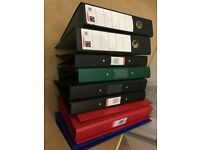 Stationery - Ring Binders and Lever Arch Files A4 - 10 in total - Many brand new