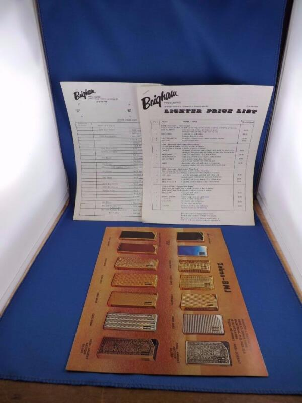 ZAIMA LIGHTER CATALOG BROCHURE BY BRIGHAM PIPES ADVERTISE PRICE LIST ORDER FORM