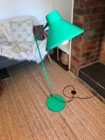 Habitat Bobby green floor lamp