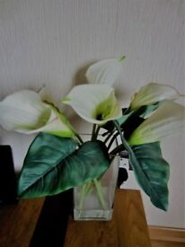 Artificial cala lilies flowers in a vase from Next