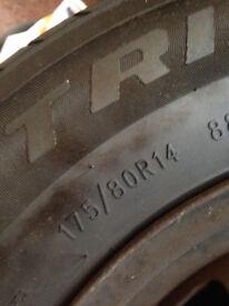 tyres 175/80/14