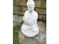 small buddha concrete stone garden ornament