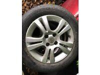 Vauxhall Corsa D alloy wheel with good 185/65R15 tyre