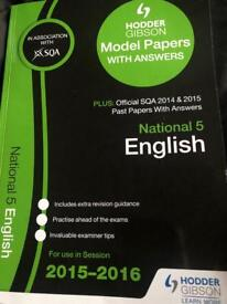 SQA National 5 English practice papers book