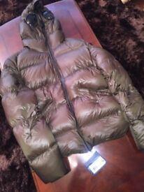 New Authentic Medium Khaki CP Company Goggle Puffa Jacket