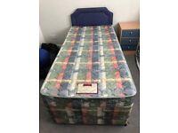 Single bed plus mattress and headboard