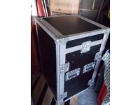 A Large Black and Silver Flight Case.