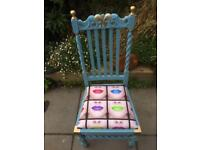 Hand painted vintage chair