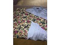 2 Gorgeous Exhibit blouses size 8