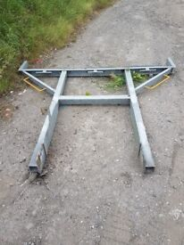 Hgv lorry steel rack over cab ladder rack