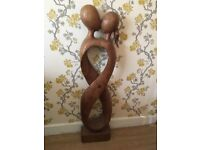 Wooden 'couple' statue