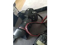 Canon 5d Mark III with a 24-105 L lense, Canon flash, 5 Bateries and more